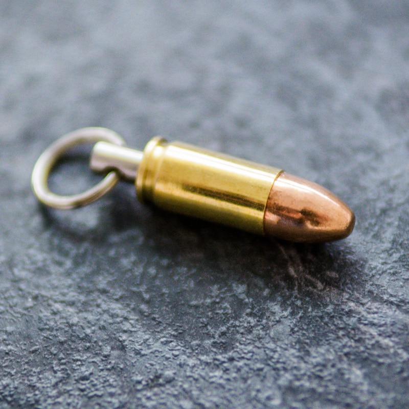 Schlüsselanhänger 9mm Vollmantel Rundkopfgeschoss