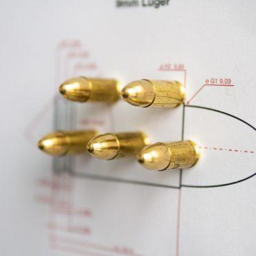 9mm-Luger-Patronen-Magente