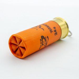 12-70-Schrot-Patrone-Schluesselanhaenger-orange