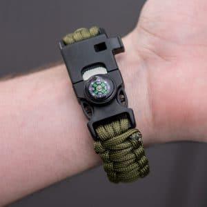 Survivalarmband-Oliv