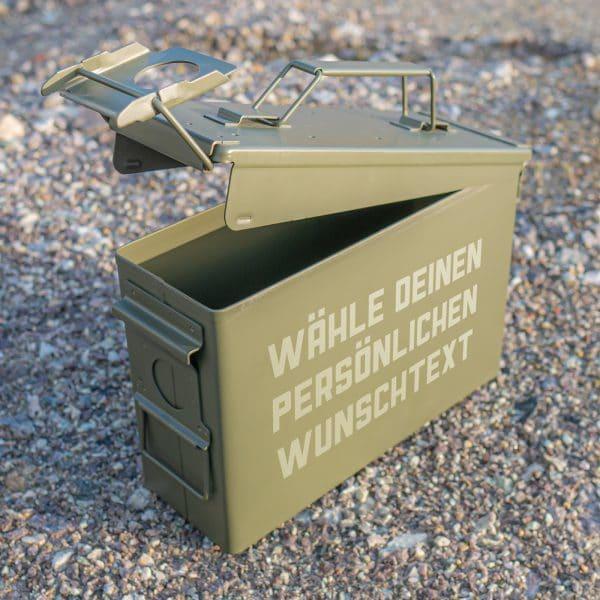Ammo Box neu mit Text Gravur