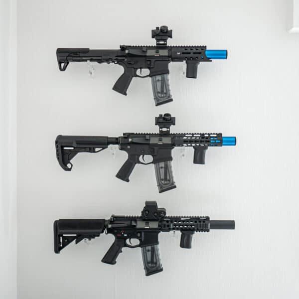 Halterung-Wand-Airsoft-Waffen-Gewehr-Plexiglas-Shop